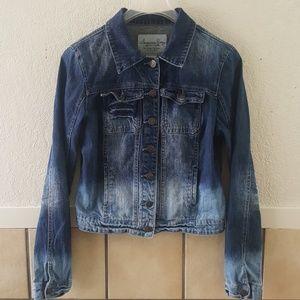 American Rag distressed cropped jean jacket Med